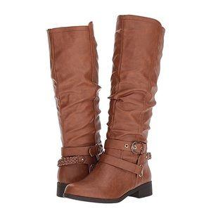 Brand NEW XOXO Martine Cognac Boots